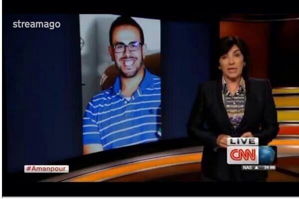 الإعلامي المشهورة كرستيان امانبور تخصص جزئ من برنامجها لقصة محمد سلطان المضرب عن الطعام في سجون #مصر #Egypt http://t.co/4qaaxunwhl