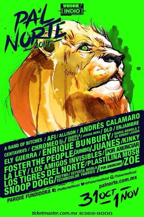 Aquí el cartel oficial de @PalNorteOficial!!! boletos en http://t.co/44JypC23vx http://t.co/1qZitB5jVx