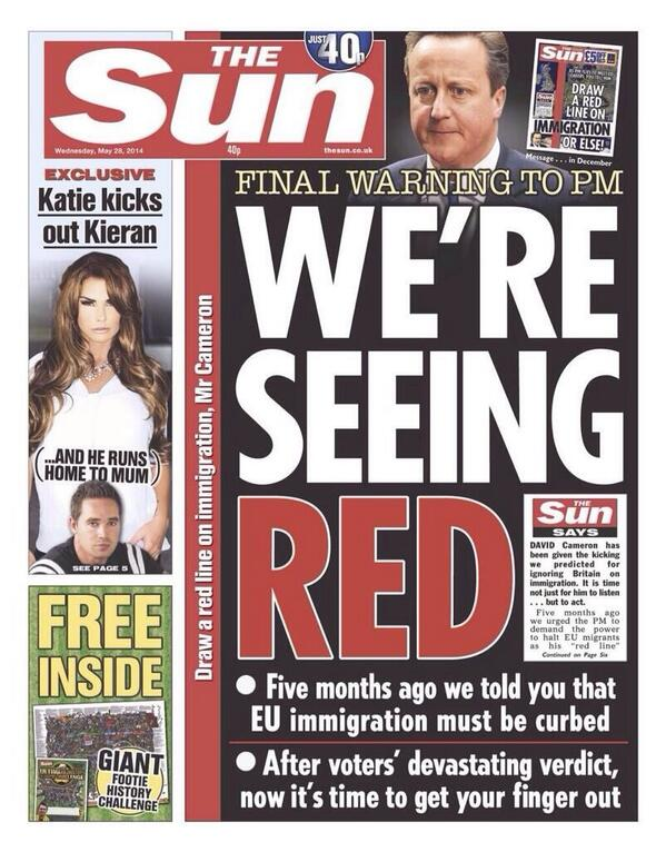 "Remember last week when The Sun called ""Nige"" a bit racist re Romanians? Yeah, good. Ignore that, they've moved on http://t.co/sa5TOkJYBg"