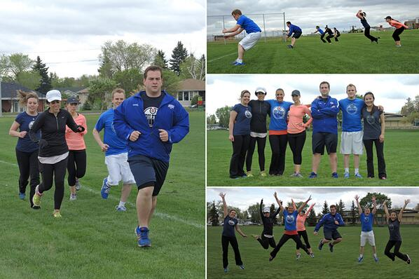 #CanadaRuns in #OilCountry with #Oilers staff members participating in lunch-hour bootcamp! @SportChek #MyBetter http://t.co/g8Uz2x971c