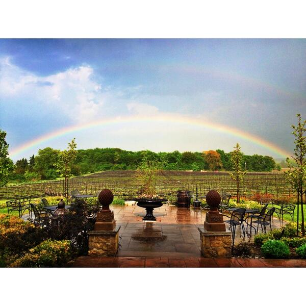 Vineyards and rainbows ... What more do you need? Hoping this is a good sign for the growing season. http://t.co/uGNljdZYLu