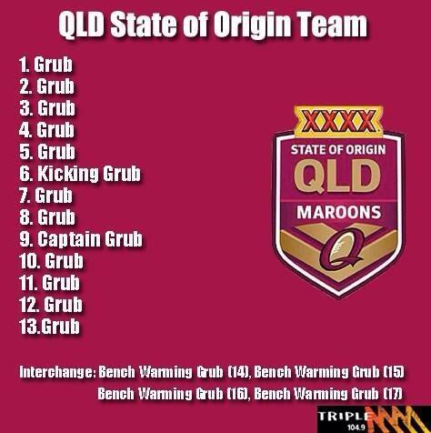 Queensland team sheet. #origin http://t.co/ULzNujAp67