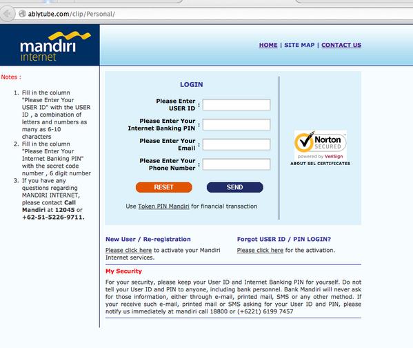 Hati2 klo dapat email upgrade ibanking @bankmandiri. Klo link diklik tampiilan sama tapi url beda http://t.co/W8I83JOtNm