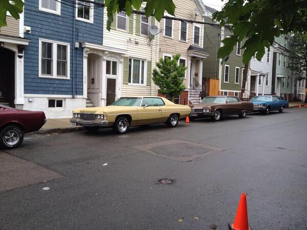 "Olivia Mignosa (@oliviamignosa): Attn: my dad ""Cars from the 1970s line W 5th St in Southie today for filming of Black Mass starring Johnny Depp. http://t.co/9BV03eyFVF"""