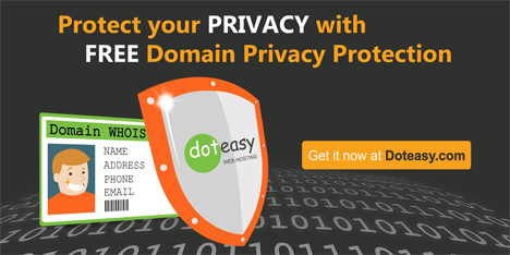 Don't want your WHOIS info up for grabs? Try Doteasy Domain Protection. http://t.co/4EN1xsAsDT *ad http://t.co/Bb8yA3QVsR