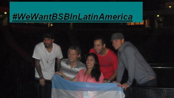 Celeste M (@CelesteMatuz): #WeWantBSBInLatinAmerica @WeirdWorldChile @BSBFlashMexico @Suzanne_86 @sttefybsb @yami_carter @Debo_Littrell ASumarse http://t.co/koZnawvtW6