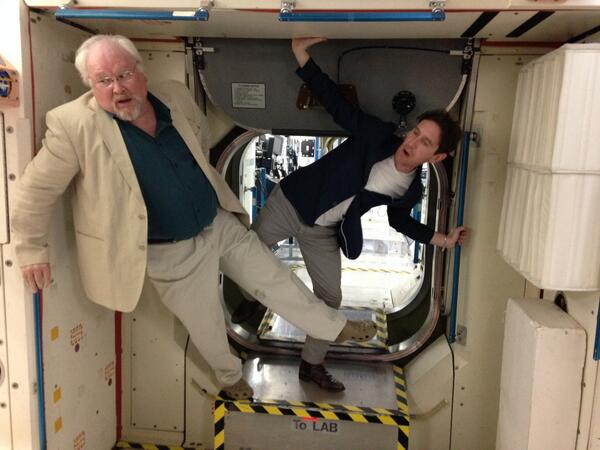 ...And then there was that time when @SawbonesHex AND @pauljmcgann were weightless in space... http://t.co/60ItsAmelt