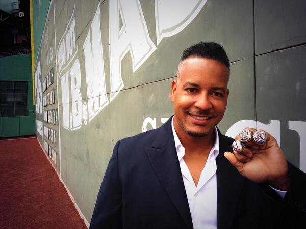 Guess who's baaack! The one and only Manny Ramirez rocking all 3 rings! Visit http://t.co/ye84HRp2Mu http://t.co/a4FtAKb64F