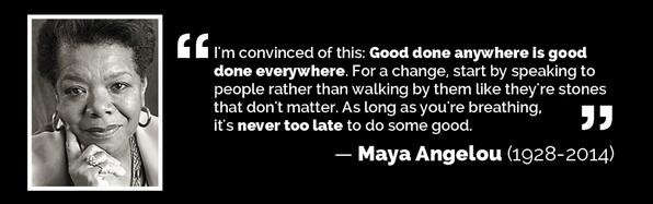 Rest in peace #MayaAngelou, your words will always continue to inspire. #RIPMayaAngelou  #inspiration #quoteoftheday http://t.co/Y3MfXfy9H6