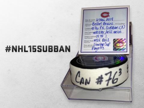 .Unique prize: the puck from my goal vs. BOS on May 6. 15K RTs & a lucky fan will win it. #NHL15Subban http://t.co/yaOGK5TP5I