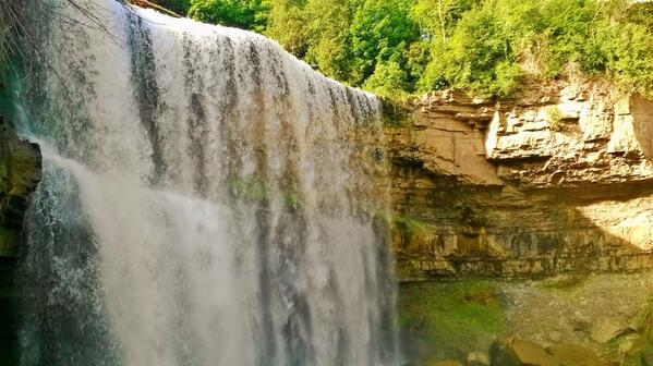Websters Falls tonight. One of my favorite hiking destinations in the #Dundas Valley. #HamOnt http://t.co/aAHHHvneqY