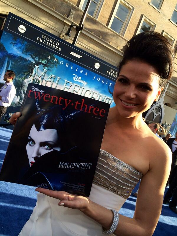 .@OnceABC star Lana Parrilla loves her new issue of Disney twenty-three! @Maleficent http://t.co/THqUFSaMNg