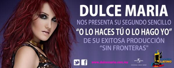 Hoy se estreno el tema #OLoHacesTuOLoHagoYo de @DulceMaria pidela a tu radio http://t.co/IIZijRkYjx