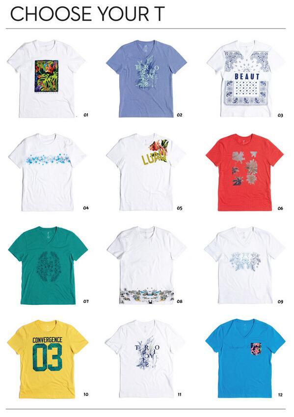[ZIOZIA] 가장 입고 싶은 그래픽 티셔츠를 아래 그림에서 골라주세요, 추첨을 통해 총 5분께 여름느낌! Tropical 무드의 티셔츠를 선물로 드립니다. 6월 4일까지! http://t.co/ibXK6L6HNf