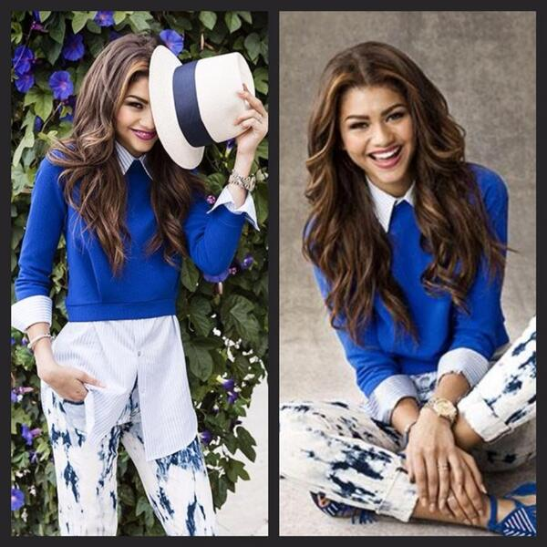 """I worked with talented and beautiful singer&actress @Zendaya for the June issue of @oprahmagazine """"Age Brilliantly"""" http://t.co/ac0yd4Gmen"""