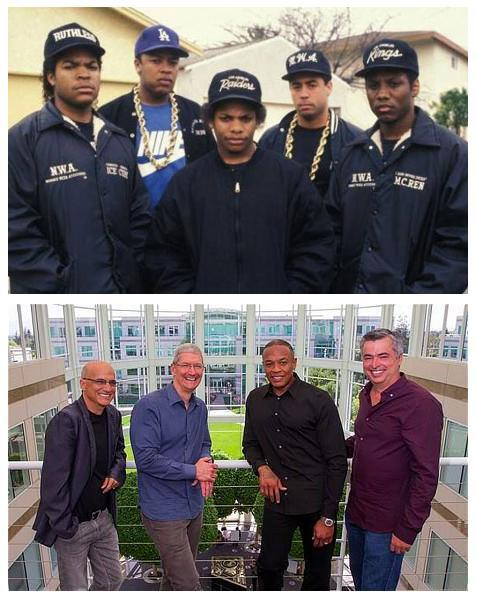 Dr Dre's crew then & now (via @chriscantore) http://t.co/LtaxCnBYLL