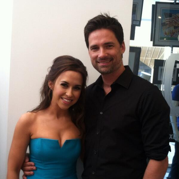 Me and my buddy @IamLaceyChabert out promoting our movie #TheColorofRain tonight. Isn't she adorable?! http://t.co/vSmOY3Ot2x