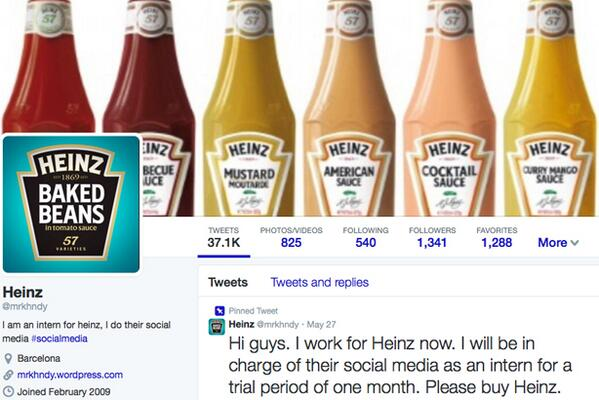 Heinz hit by Twitter 'brand-jacking' http://t.co/B7xyS1rgtG http://t.co/twuBhZkhSa