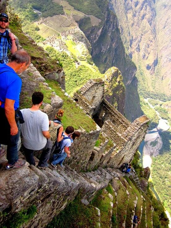 "OMG… ""@danielsLondon: Crazy Scary Photo of The Almost Vertical Stairs at Machu Picchu in Peru http://t.co/lDpBuSGb7x"""