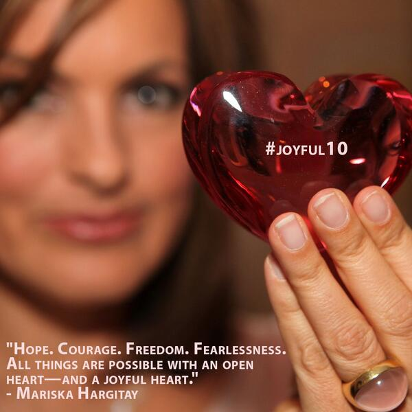 It's our 10th anniversary...10 yrs since @Mariska's glimmer of an idea turned into @TheJHF. #joyful10 http://t.co/68Ft6VF386