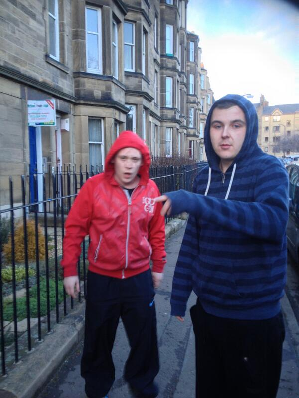 Police looking for this pair after Nigerian man racially abused in Dalry Road, Edinburgh. http://t.co/Aj96Aj7stm