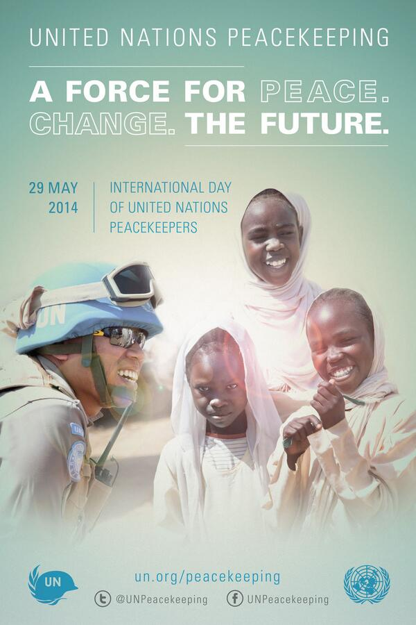 It's #UN Peacekeepers Day! Retweet & show your support for #peacekeepers http://t.co/O39PDEdyoM #Force4Future #PKDay http://t.co/3PUvxfgsy3