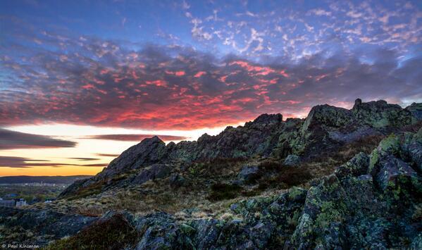 Sunset over St. John's tonight. #nlwx #yyt #newfoundland http://t.co/goBM1pJpB4