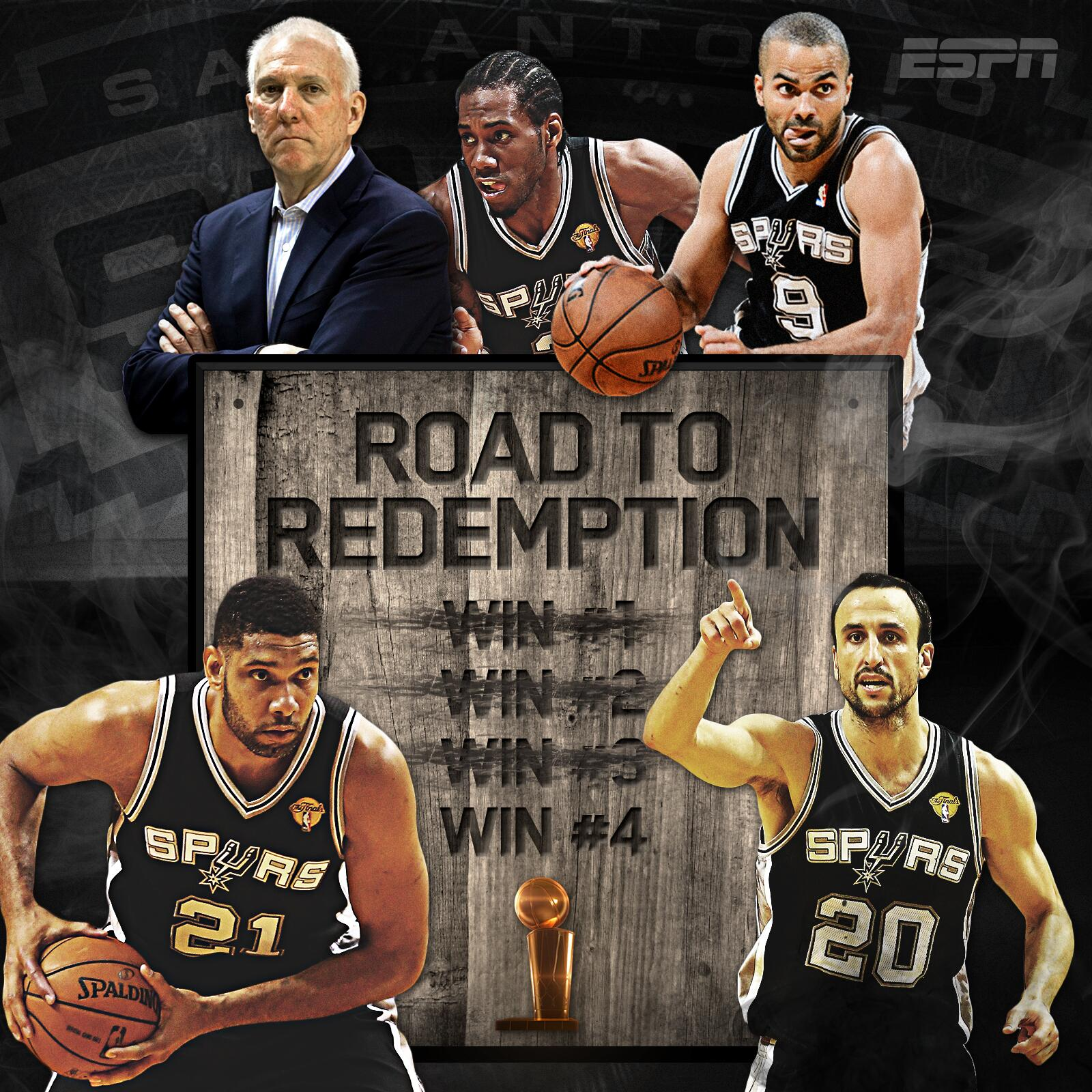 3 down, 1 to go on the Spurs' road to redemption. http://t.co/EbsmDk4mgX