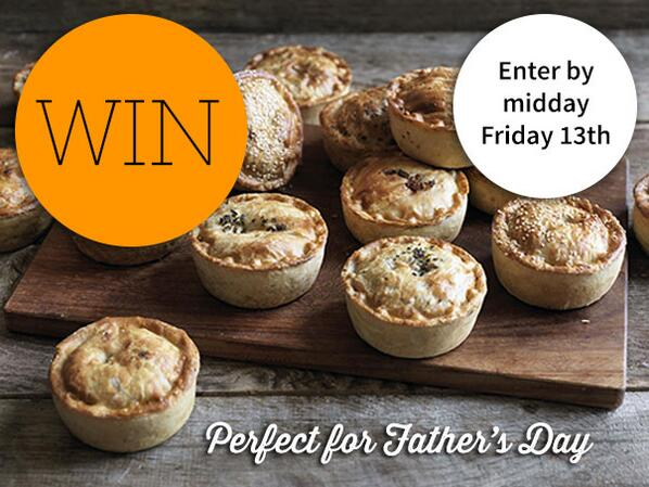 Win a box of 12 @pieminister pies for dad this #FathersDay, check out our FB for details. http://t.co/TOViCANVzH http://t.co/K3UiIHEQG4