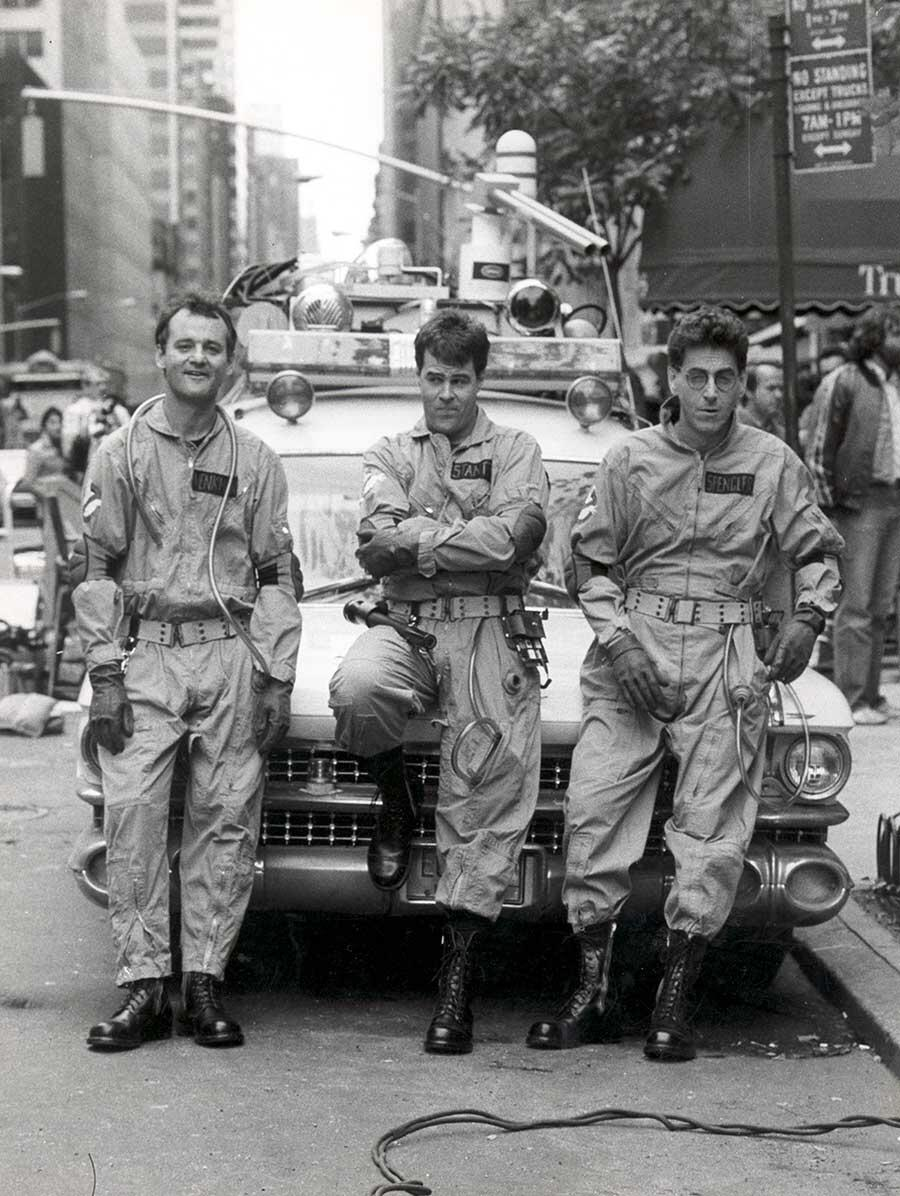 Bill Murray, Dan Aykroyd, and Harold Ramis on the set of Ghostbusters http://t.co/PVuiUh7xSA