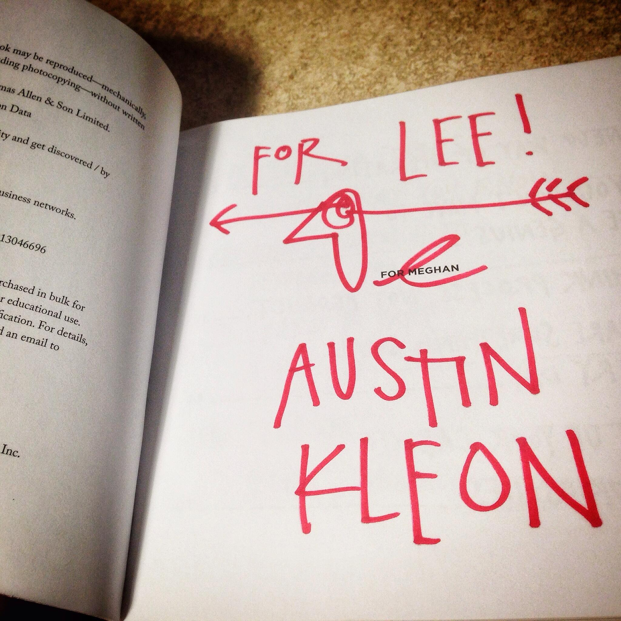My autographed copy of Show Your Work! Thx @mel_haas @austinkleon http://t.co/rUO5W7wkPp