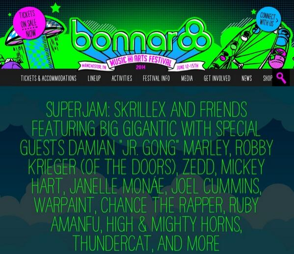 Happy girl to be joining the fun w/ @Skrillex and Friends @Bonnaroo #SUPERJAM ❤️ http://t.co/rQyCdEqR0s
