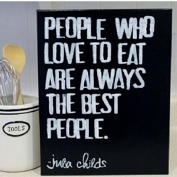 People and food is.... Happiness x http://t.co/pJ31jMQYrR