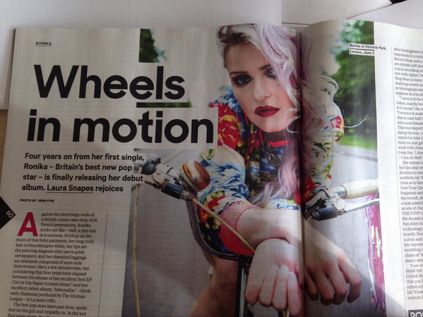 Feature in the NME this week! 'Britains best new pop star' clocking in for duty X <3 http://t.co/NH9zG0h5tr