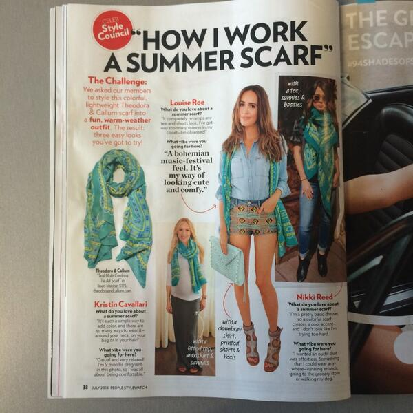 How do @KristinCav @louiseroe & @NikkiReed_I_Am style their #summer scarf? @StyleWatchMag dishes on T&C celeb style! http://t.co/uzAlnZ7tm2