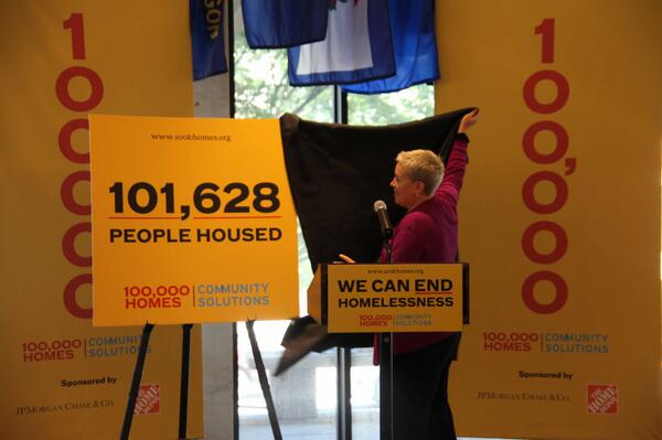 We did it! #100khomes #endhomelessness #thankyou #moreworktodo http://t.co/cYKZpALJLk