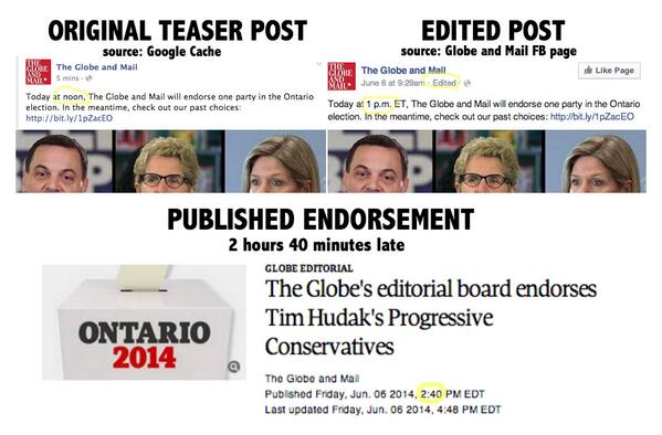 Wow. RT @JesseBrown Globe Editorial Board endorsed LIBERAL gov't, overruled by @WalmsleyGlobe http://t.co/Rwk83Egwyh http://t.co/9lwJGji56u