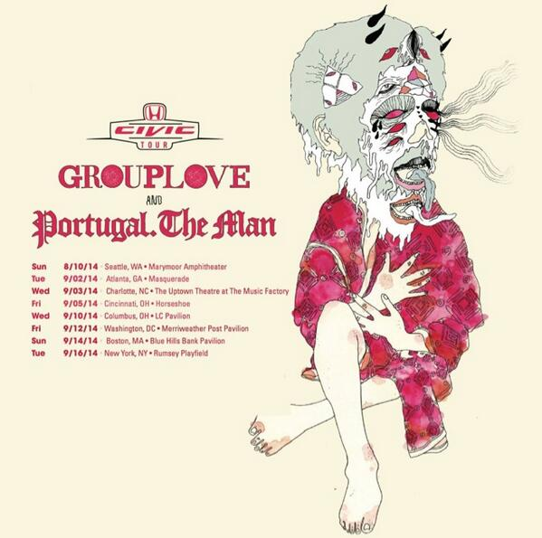 We're super excited to announce we will be touring with @Portugaltheman and @Grouplove !! http://t.co/JYKiBPdIVN