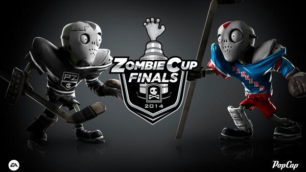 Plants vs. Zombies (@PlantsvsZombies): #PvZGW Zombie All-Star loves hockey sticks. Good for taking out Sunflowers #ZombieCupFinals2014 http://t.co/O3PY6AUePM