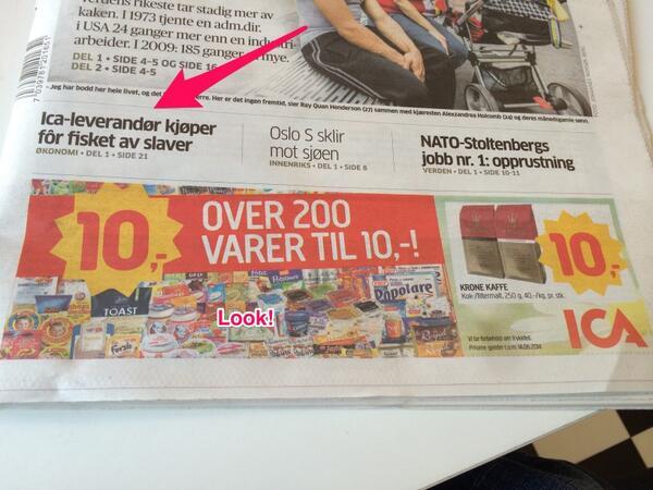Kanskje ikke helt hva ICA hadde tenkt seg når de bestilte reklameplass i Aftenposten? http://t.co/SI6HEqWmGs
