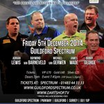 RT @ModusDarts180: Come & see @jackpot180 @Raybar180 @MvG180 @JamesWade180 & @BobbyGeorge180 at @GfdSpectrum #Guildford NOW ON SALE http://t.co/B1FEIsssm6