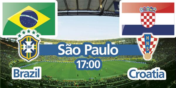 The #WorldCup begins today with #BRACRO. Good luck to all 32 teams. Thank you Brazil for your support. I can't wait! http://t.co/Q1z8pOKqw4