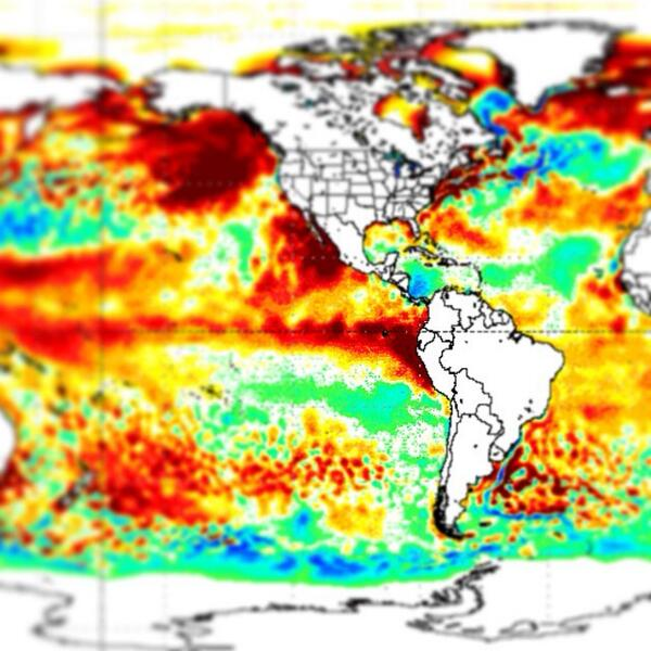 Major El Nino forming: water temps off Peru running 4-7 deg (F) above normal!  3 of 4 times means WARM winter for MN http://t.co/LjdFEPRuVy