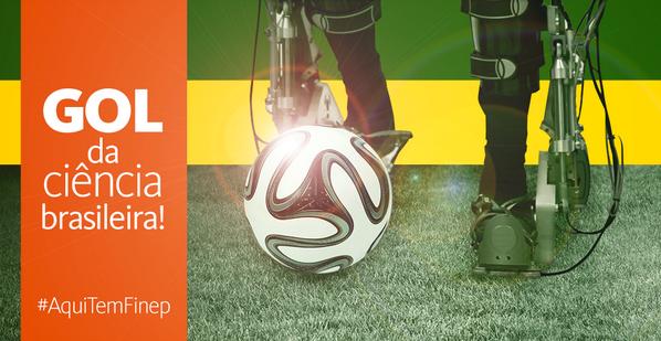 #AquiTemFinep O pontapé inicial da Copa será dado por um paraplégico com veste robótica. Compartilhe essa vitória! http://t.co/T0xMoIdFEI