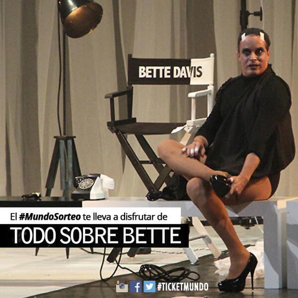 """Tenemos #MundoSorteo de 2 entradas para #HOY de """"TODO SOBRE BETTE"""" con @LuisFernandez14 ¿Las quieres? Debes hacer RT http://t.co/NJVouuYfX0"""