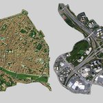 Florence Italy and a highway interchange in Atlanta at same scale. @stevemouzon http://t.co/JpSBavZg2C http://t.co/3dKQkgXHdg
