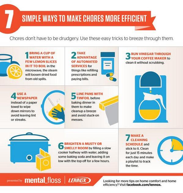 7 Simple Ways to Make Chores More Efficient (presented by @LennoxAir) http://t.co/IrxSvPfu4E