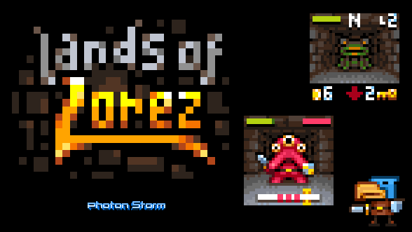 "Our 32x32 pixel dungeon crawler ""Lands of Lorez"" is live :) http://t.co/5M8TbkmyG7 #lowrezjam http://t.co/JpiOyqZjMr"