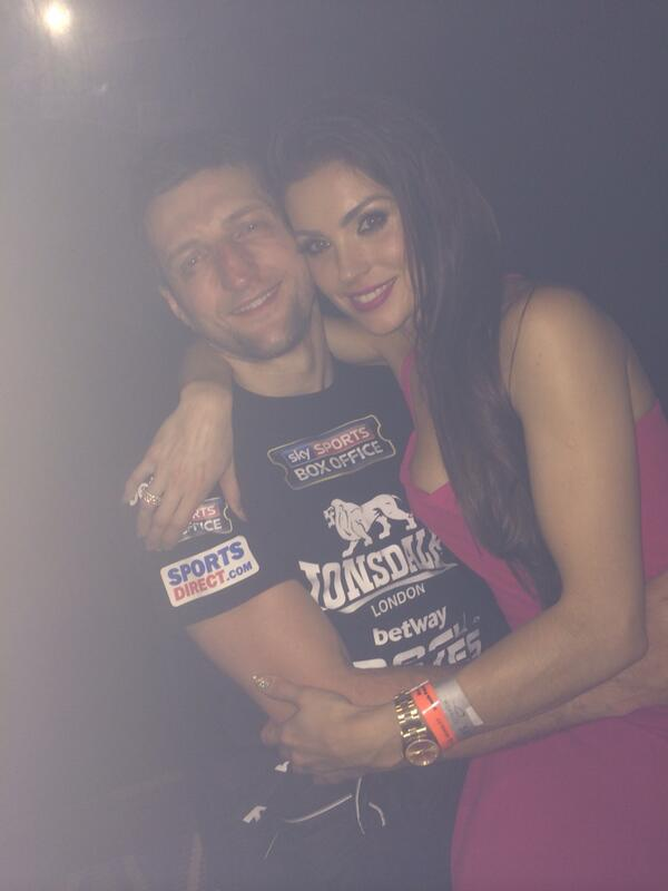 I couldn't be more proud of my man @Carl_Froch tonight. I love you xxxx http://t.co/OOSB6ecERx