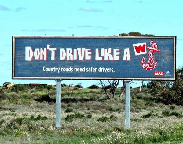 Road safety advert in Australia #advertising #roadsafety http://t.co/zJgnWuX0p9